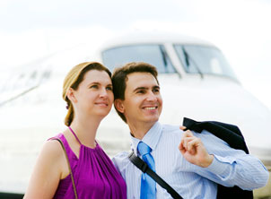 Man and Woman with Airplane